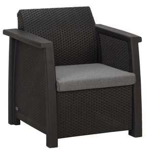 Leenbakker - 2x Le Sud loungestoel Porto - grijs - 77x68x79 cm