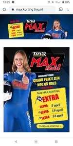 Extra tinq Max korting dagen.