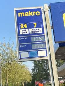 Goedkoop tanken Makro Delft €1,354