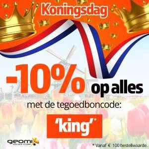 Met code 10% (EXTRA) korting (va €100) @ Geomix