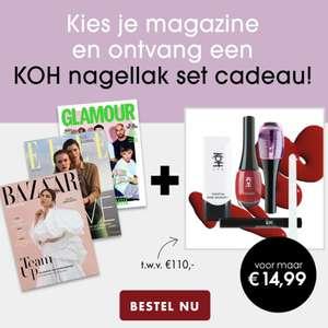 Gratis 5-delige KOH nagellakset bij 3x Harper's Bazaar/Elle/Glamour