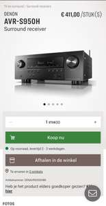 DENON AVR-S950H surround receiver