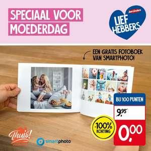 Gratis smartphoto fotoboek voor moederdag bij 100 punten.