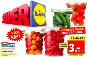 Snackgroenten 2 emmers voor €3,- @Lidl