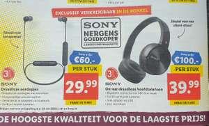 Sony oordopjes en hoofdtelefoons bij Lidl vanaf 15 mei 2020