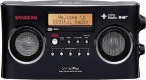 (Conrad) Sangean DPR-25+ Transistorradio DAB+, FM AUX Accu laadfunctie Zwart voor €88,49