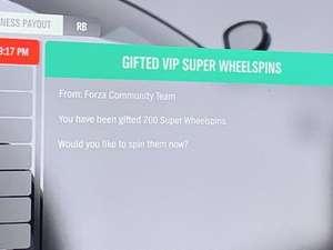Forza horizon 4. Gratis 200 super wheel spin