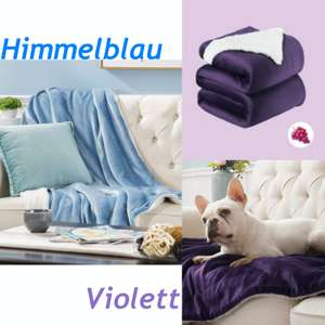 Bedshure Sherpa fleecedeken Violet/Hemelblauw 150x200 of 220x240 @Amazon.de