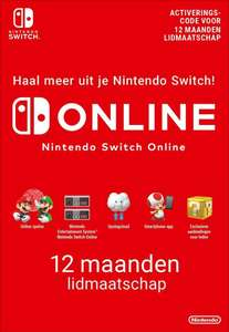 Nintendo Switch Online 12 maand, nu iets goedkoper dan normaal