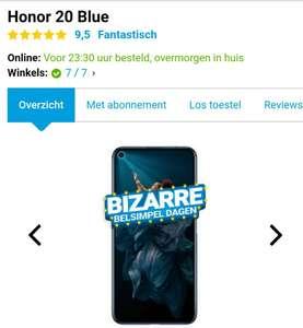 Scherpe Honor 20 deals:€ 259,- @Belsimpel, € 249,- @NL-Honorshop. Elders vanaf € 319,-
