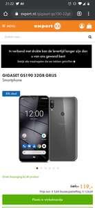 Gigaset GS190 32GB GRIJS