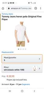 Tommy hilfiger polo wit amazon.nk