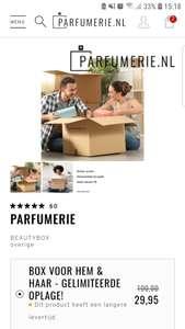 Beautybox van parfurmerie.nl