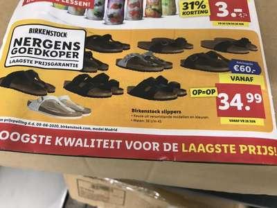 Birkenstock vanaf € 34.99 bij lidl