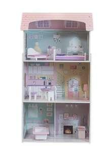 Poppenhuis met meubeltjes