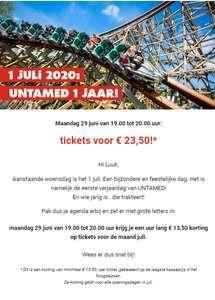 [Alleen maandag tussen 19:00-20:00] minimaal €13,50 korting op Walibi Holland tickets @ Walibi webshop