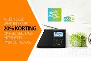 Week v/d Digitale Radio: -20% op verschillende DAB+, Internet en Hybride radio's @ Expert