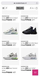 Nike Airmax 270 @ Sneakerbaas