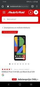 [GRENSDEAL] Google Pixel 4 €432,81 bij MediaMarkt Duitsland