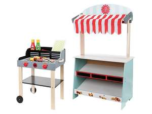 PLAYTIVE JUNIOR® 2-in-1 speelwinkel-/theater of speelbarbecue €19,99 (was €34,99)