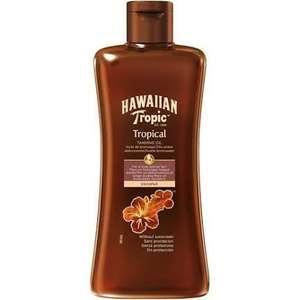 Hawaiian Tropic Tropical Tanning Oil SPF 0 (200 ml ) - En vele andere!
