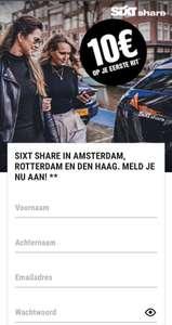 Sixt Share Gratis €10 *Voor nieuwe gebruikers*