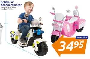 [vanaf woensdag] Eenhoorn of Politie Motor op Accu à €34,95 bij Action weekactie (€42,95 normale prijs)