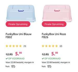 Funkybox billendoekjes doosje uni blauw of roze