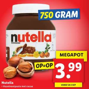 Megapot Nutella 750g voor €3,99 @Lidl
