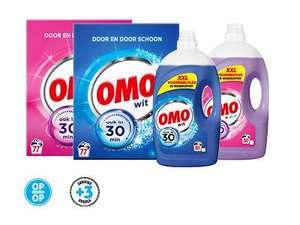 Omo wasmiddel XXL en omo waspoeder voor 7.99 per stuk + 3 servieszegels en 2 nijntje placemats (op = op!)