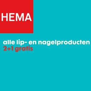 Lip-& nagelproducten 2+1 gratis - ook sale @ HEMA