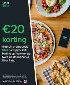2 x €10 Uber Eats. (Voor nieuwe klanten)