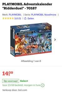 "PLAYMOBIL Adventskalender ""Ridderduel"" [bol.com €14,09]"
