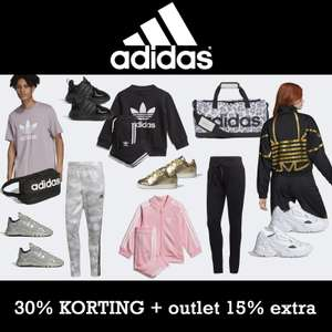 30% korting [code] + 15% extra op outlet @ adidas