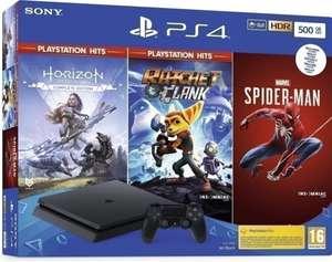 Playstation 4 Slim (Black) 500GB + Horizon Zero Dawn Complete Edition + Rachet & Clank + Spider-Man