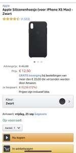 iPhone siliconen case voor iPhone XS Max @Amazon NL