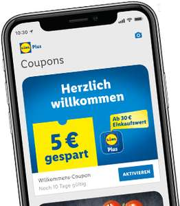 €5 korting op alles met de Lidl Plus-app @ Lidl DE (Grensdeal)