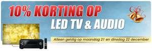 10% korting op alle LED tv's en audio @ Bobshop