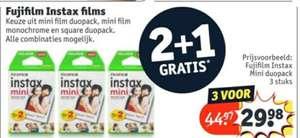 2+1 gratis op alle Fujifilm Instax mini/square film