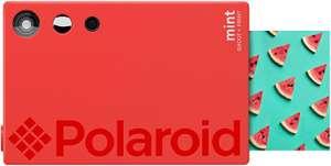 Polaroid mint: 2-in-1 printer en camera met spiegel-selfie en mooi verticaal design. Druk op 2 x 3 zinkpapier, rood