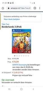 Borderlands 3 ps4 amazon.nl