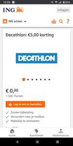 Gratis bon Decathlon van 5 euro voor 500 rentepunten