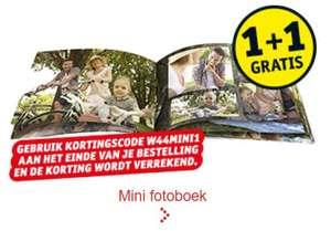 1+1 op mini fotoboeken @ Kruidvat (2 met 26 pagina's = €7,49 totaal)