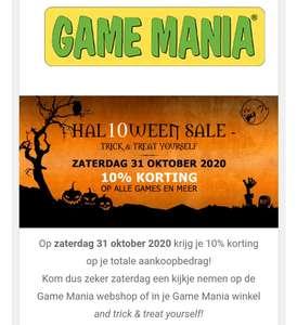 10% Halloween Korting bij Game Mania