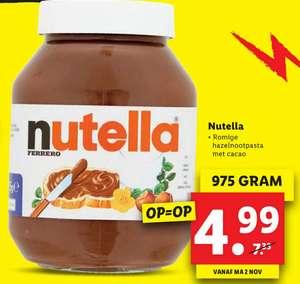 XXL pot Nutella (975 gram) voor €4,99 @ Lidl