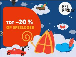 [België]-15% OP SPEELGOED bij aankoop vanaf € 50 speelgoed* -20% OP SPEELGOED bij aankoop vanaf € 150 speelgoed*
