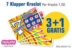 7 Klapper kraslot 3+1 gratis