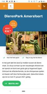 7.50 korting op ticket Dierenpark Amersfoort