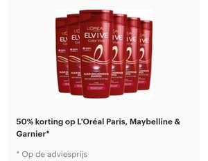 Alleen vandaag: 50% korting op L'Oréal Paris, Maybelline & Garnier