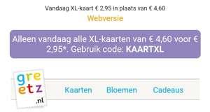 KaartXL bij Greetz voor €2.95